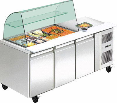 THP4100SALGC four door DELUXE Salad Bar
