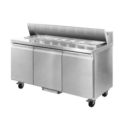 SLB200 Three Large Door Sandwich Bar 10 x 1/3 Pans