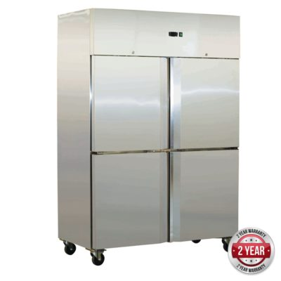 SN1000BTM GRAND ULTRA Split  S/S 4 Door Upright Freezer 1000L