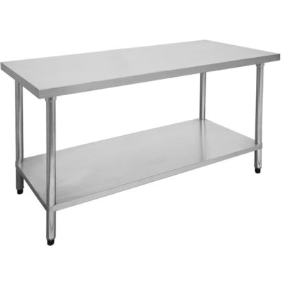 2400-7-WB Economic 304 Grade Stainless Steel Table 2400x700x900