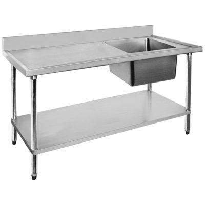 Economic 304 Grade SS Right Single Sink Bench 1500x700x900 Bowl Size: 500x400x250