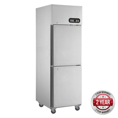 SUC500 TROPICAL Thermaster 2×½ door SS Fridge