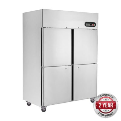 SUF1200 TROPICAL Thermaster 4×½ door SS Freezer