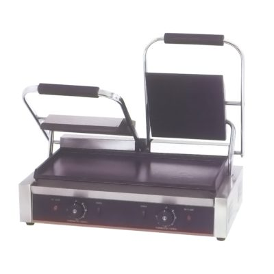 Electric Contact Grill Double Top Grooved and Bottom Flat 1.8KW+1.8KW  – TCG-813CKW