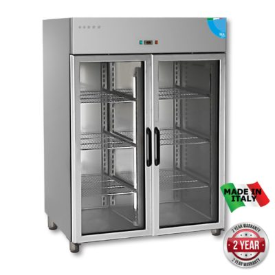 TD1400BTG Premium Double Glass Door Upright Freezer – 1400 Litre