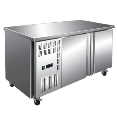Stainless Steel Large Double Door Workbench Freezer – TL1800BT