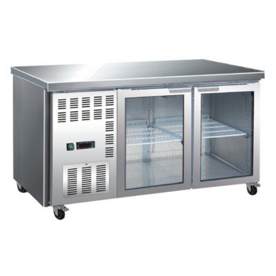 Large Double Glass Door Workbench Fridge – TL1800TNG