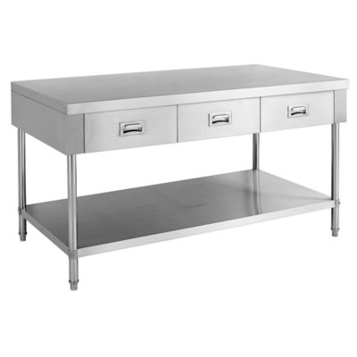 SWBD-7-1500 Work bench with 3 Drawers and Undershelf
