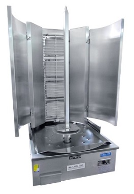 4 Burner Infrared Vertical Rotisserie – Swing Model