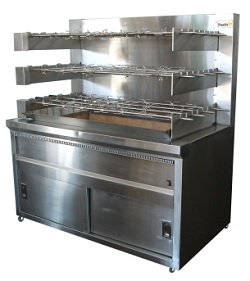 Chicken Rotisserie – 54 Chickens