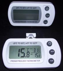 Digital Hanging Fridge/ Freezer Thermometer