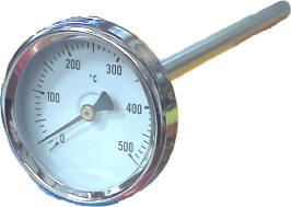 100mm Oven Dial Thermometer 0°c up to +500°c