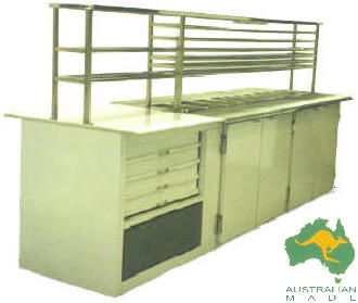 VIP Double Sided Pizza Preparation Bar; 9-15 x 1/3 size pots; available without marble/drawers; standard and made to order