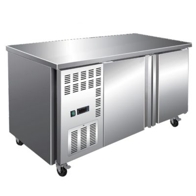 Stainless Steel Double Door Workbench Freezer – TL1500BT