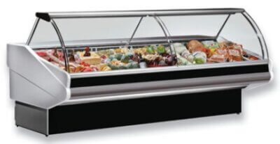 PAN2000 – CURVED FRONT GLASS DELI DISPLAY