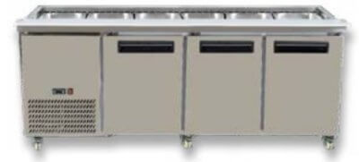PG210FA-B Three Door Premium S/S Cold Salad & Noodle Bars – 6× 1/1 GN Pans