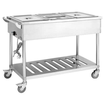 BMT4H Four Pan Heated Food Service Cart