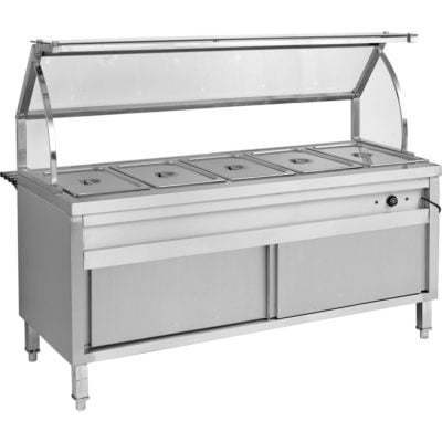 BS5H Heated Five Pan Bain Marie Cabinet
