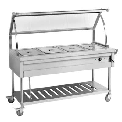 BST4H Heated Four Pan Food Service Cart