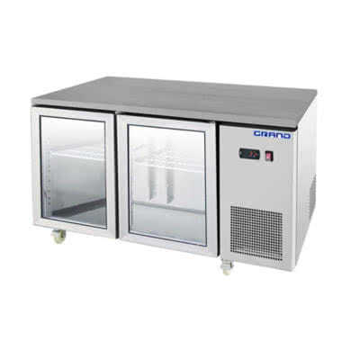 GTR2100BG GRAND True Quality 2 Glass Door Gastronorm Work Bench Fridge