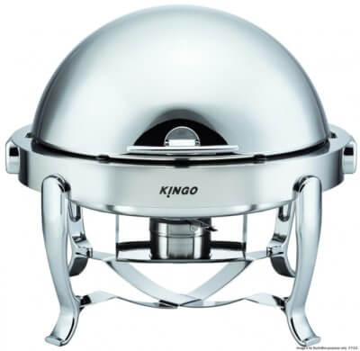 Round Chafing Dish with Chrome Legs – KGB6803G