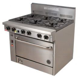 Goldstein PF-6-28 – 6 Burner Gas Oven Range