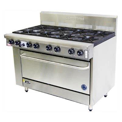 Goldstein PF-8-40 – 8 Burner Gas Oven Range