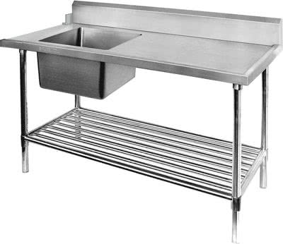 SBBD-7-1800L – Left Inlet Single Sink Dishwasher Bench