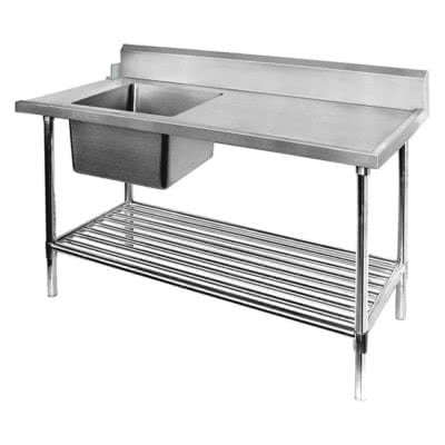 Left Inlet Single Sink Dishwasher Bench – SSBD7-1500L/A