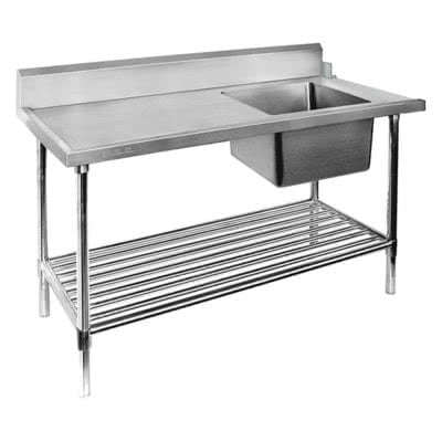 Right Inlet Single Sink Dishwasher Bench SSBD7-1800R/A