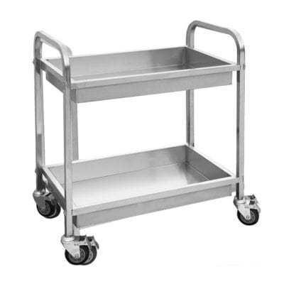 YC-102D – Stainless Steel trolley with 2 shelves