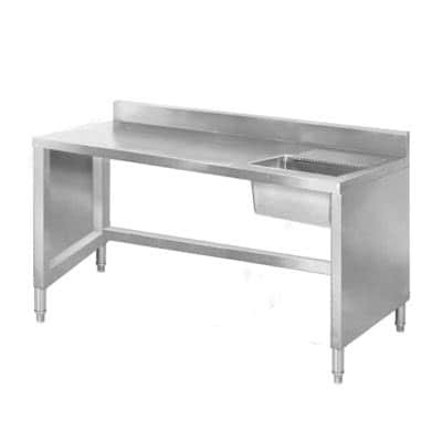SSB6-1400 Sink Work Bench with Splashback 1400mm Bowl size 400mmW×400D×300H