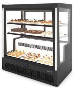 Refrigerated Display Case Fixed Front, Rear Sliding Doors