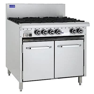 Luus 6 Burner Gas Oven Range CRO-6B