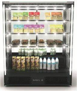 Refrigerated Display Case Front and Rear Sliding Doors