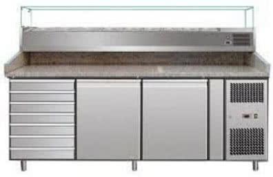 Marble Work Top with Delux Prep Top (2 Door Storage/Drawers)