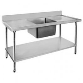 Single sink bench – centre sink 1200x700x900 – 1200-7-SSBC Bowl Size: 400x400x250