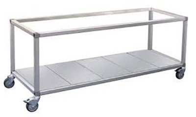 Roband Trolley Food Bar and Bain Marie, 12 x 1/2 pans size