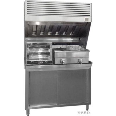 Stainless Steel Hood with filters 1800mm long – HOOD1800A