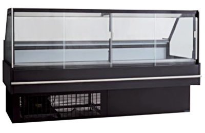 Square front glass hot deli display – DD2000SH