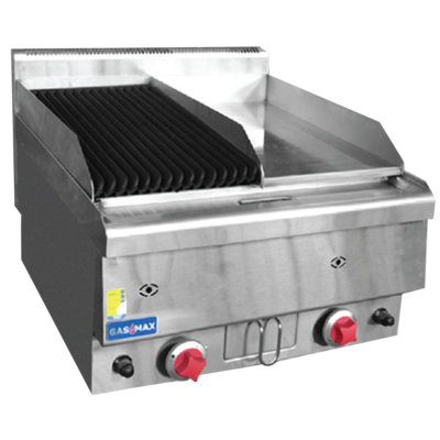 JUS-TRGH60 GASMAX Benchtop Combo 1/2 Char & 1/2 Griddle