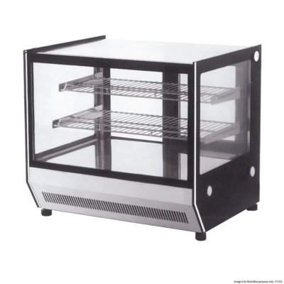 Counter top square glass cold food display 660x530x730 – GN-660RT