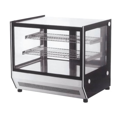 Counter top square glass cold food display – GN-900RT
