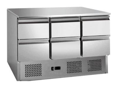 6 drawers S/S benchtop fridge – GNS1300-6D