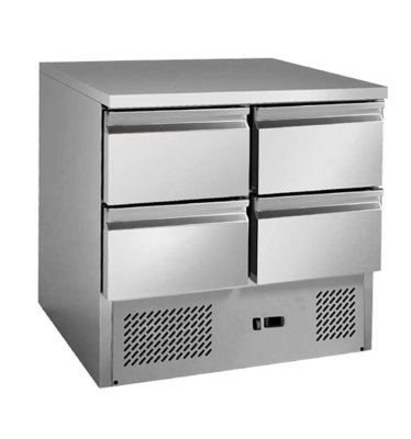 4 drawers S/S benchtop fridge – GNS900-4D