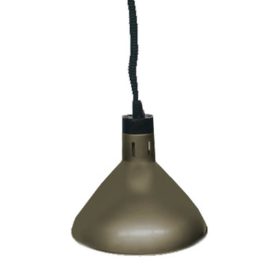 Pull down heat lamp antique bronze 270mm Round HYWBL07