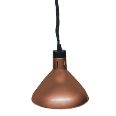 Pull down heat lamp antique copper 270mm Round HYWBL09
