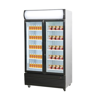 Combined Fridge & Freezer Double Door Upright Glass Door  LG-1000GEF
