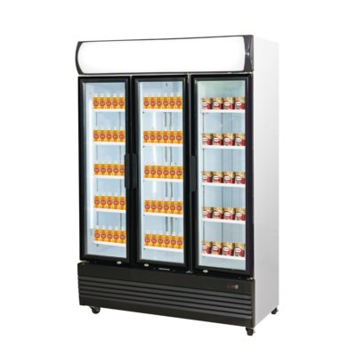 Combined Fridge & Freezer Triple Door Upright Glass Door  LG-1200GEF