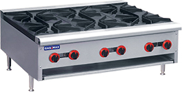 RB-6E Gas Cook top 6 burner